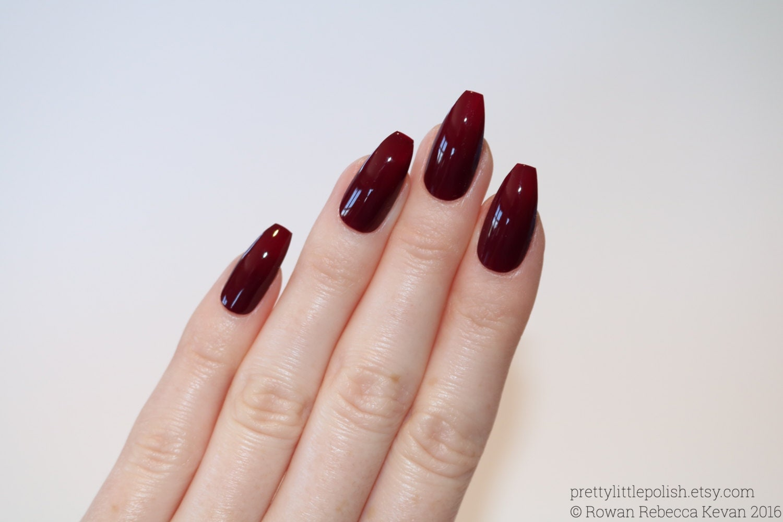 Coffin Designs Matte Red Coffin Nails Nail Designs Nail Art Nails