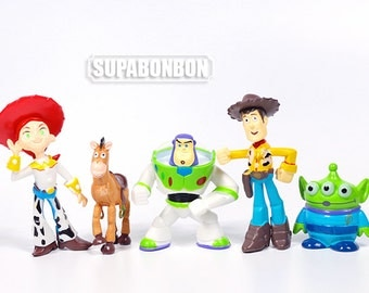 Decoden / Figurine / PVC / Toy Story / Buzz / Woody / Miniature / Dollhouse / 5-7cm / DS347 / DS347-5