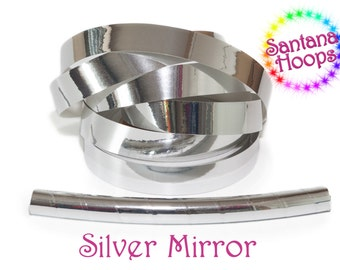 Silver Mirror Taped Performance Hula Hoop Polypro or HDPE
