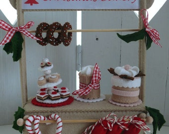 The Christmas Bakery - the Shop. DIY kit without Baker Mouse.