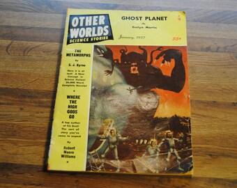 Vintage Sci-Fi/Other Worlds Ghost Planet Vintage Sci-Fi/FWB/Vintage Magazine/Spring Sale