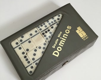Set of Vintage Hansen Double-Nine Dominos + Extra Blank for Chicken Foot