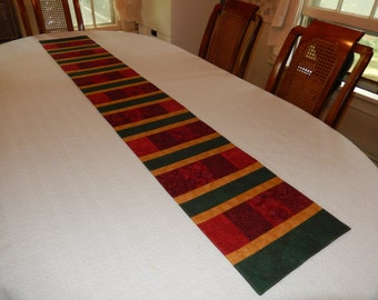 Christmas Colors Patchwork Table Runner