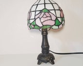 Stained Glass Fower Night Lamp, IT520 MRCC Vintage