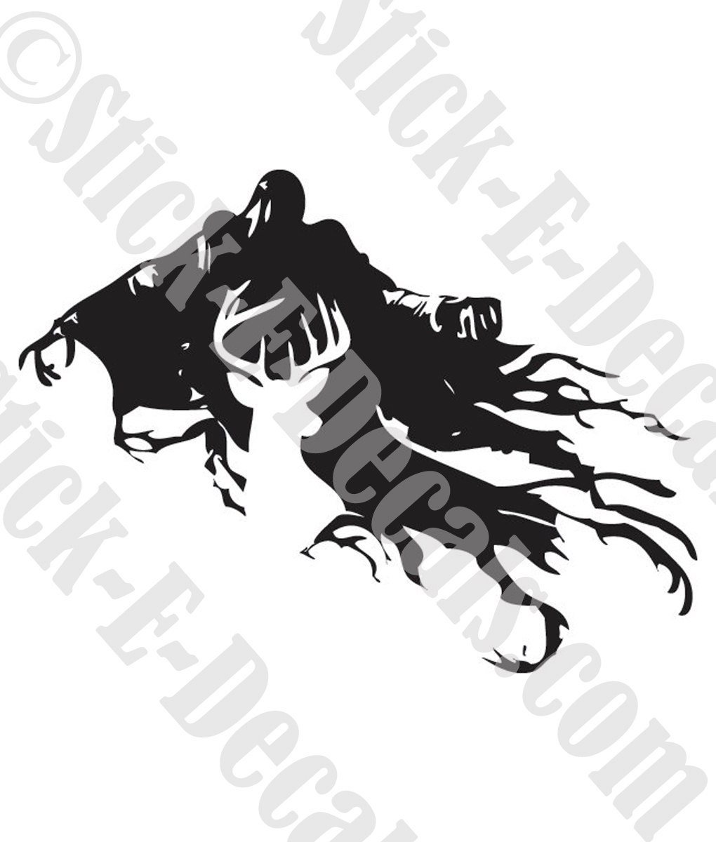 dementor coloring pages - dementor and stag patronus or choose your own patronus