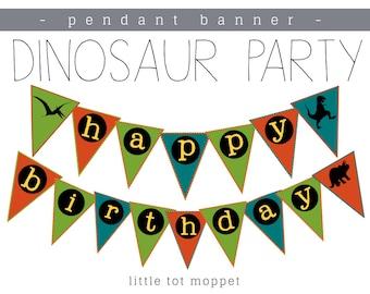Dinosaur Party - Banner