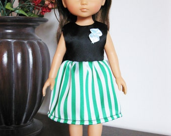 """Handmade Doll Clothes Dress fits 13"""" Corolle Les Cheries or 14"""" H4H G2G Dolls 12"""