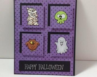 Halloween Card/Handmade Halloween Card/happy Halloween Card/Greeting Card/Halloween Greeting Card