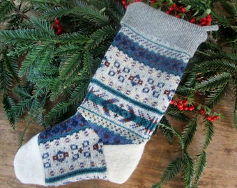 Wool stocking Ready to ship! Recycled sweater wool stocking. Wool stocking country christmas stocking recycled . Eco friendly holiday