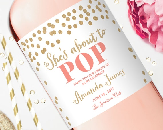 baby shower label template for favors - baby shower wine labels baby shower favors champagne