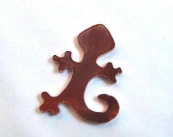 lizard copper blank , 18 gauge copper lizard , copper stamping blanks - hand cut blank QTY -1