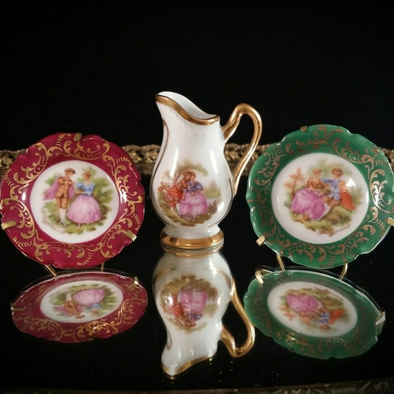 limoges miniature china set limoges miniature pitcher mini. Black Bedroom Furniture Sets. Home Design Ideas