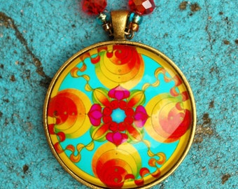The Abundance mandala pendant