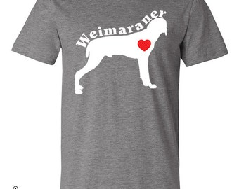 Weimaraner Love Heart Dog Breed Silhouette shirt bag hoodie