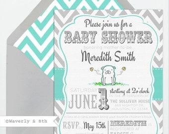 DIY Printable Bulldog Baby Shower Invite (Printing services available)