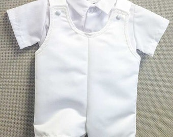 Oli Christening Outfit, Baptism Outfit,  Blessing Outfit, Christening Overalls for Baby Boy's