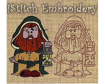 Harry Potter Embroidery Design Wizard 7 - 4 sizes