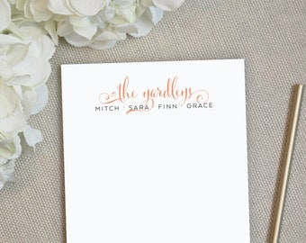 Personalized Notepad. Personalized Note Pad. Family Notepad. Family Names Notepad. Stationery. Stationary. Gift. Custom. Office. Billow.