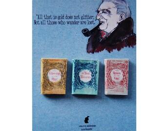 J. R. R. Tolkien's  miniature book magnets set
