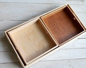 Rustic Cherry and Maple Nesting Trays