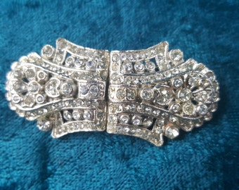 Antique Duette Brooch and Fur Clips