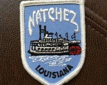 Natchez Lousiana Vintage Souvenir Travel Patch