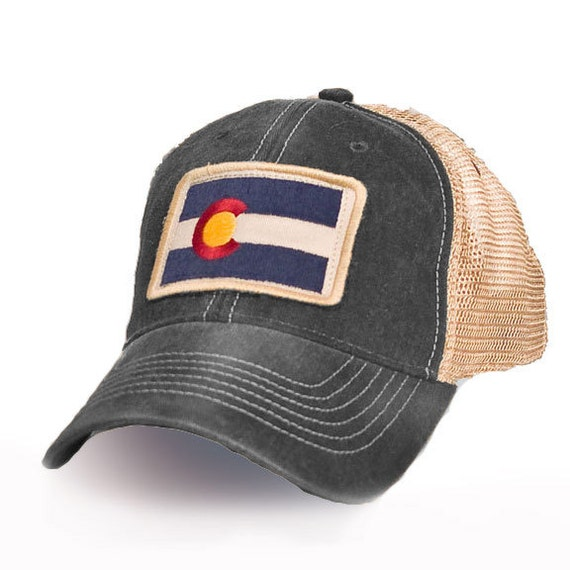 Colorado Flag Patch Trucker Hat Black By Statelegacyrevival