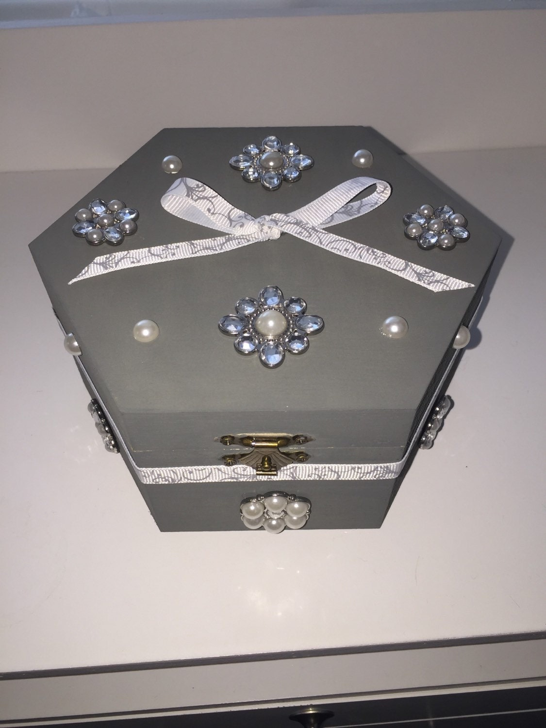 pearl jewelry box by artyshop on etsy