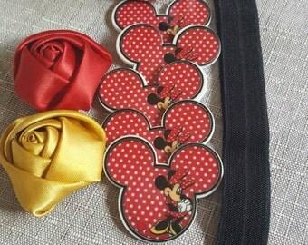 Sale hair bow ribbon-minnie hair clips-grossgrain ribbon- sale lanyard ribbon