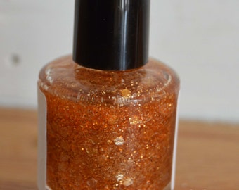 Candy Corn ~ Indie Handmade Nail Polish ~ 5 Free, Custom Blended Glitter Polish