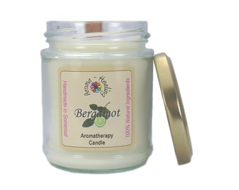 Bergamot Natural wax Candle | Natural Soy Wax Candles | Candles in a Jar | Jar Candles | Best Aromatherapy Candles