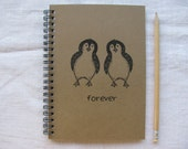 Forever (with penguins) -   5 x 7 journal