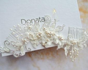 Bridal Headpiece Bridal hair Comb Wedding Hair Comb Decorative Comb Bridal Hair Accessories  Hair Comb - NINON