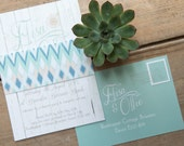 Bohemian Beach Wedding Invitations And Stationery