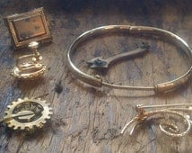 Victorian to Vintage JEWELRY MAking Lot - some gold fill