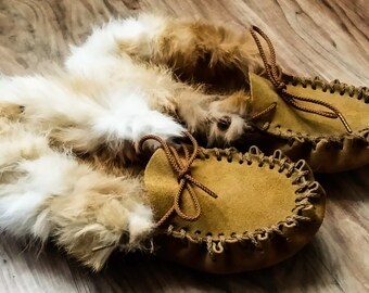 REAL Fur Lined Moccasins