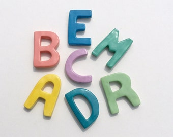 Ceramic Letter Fridge Magnets