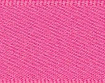 Berisford Sugar Pink Double Satin Ribbon - 25mm