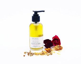 SACRED FLOWER Body Oil - Travel Size - Shower Oil. Bath Oil. 100% Natural. Body and Soul oil. Organic Body Care. Moisturizer. 60ml