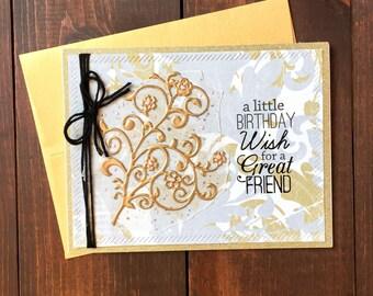 Handmade Birthday Card, Birthday Card, Happy Birthday, Handmade Birthday Card, Friend Birthday Card, Friend Card, Birthday Wish,