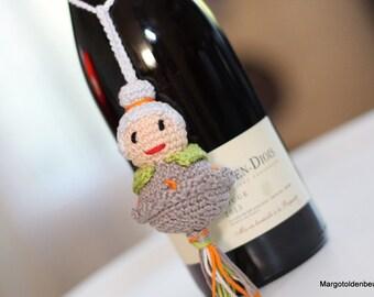 Crochet gelukspop crochet hats oma/mascot grandma