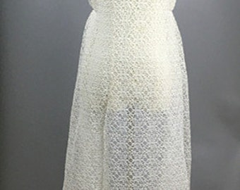 "White lace Fabric  45"" Width  1 yard  LL16"