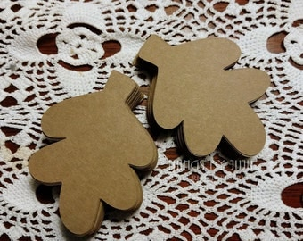 100 Kraft Oak Leaf, Die Cut Kraft Leaf, Kraft Oak Leaf Die Cuts, Leaf Place Cards, Fall Wedding Tag, Leaf Favor Tag (3x2)