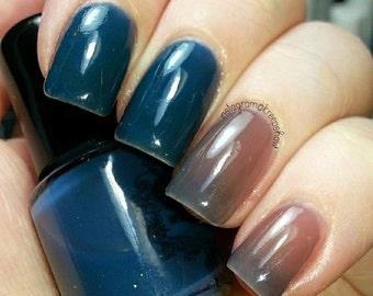 Thermal nail polish - Farmers tan -  Large bottle  -  Handmade - polish  - Vegan