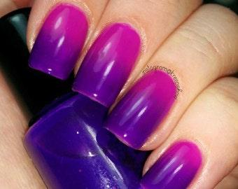 Thermal nail polish - Glamping -  Large bottle  -  Handmade - polish  - Vegan