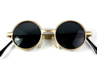 Hi Tek Alexander round metal frame Ozzy Osbourne styel steampunk vampire sunglasses
