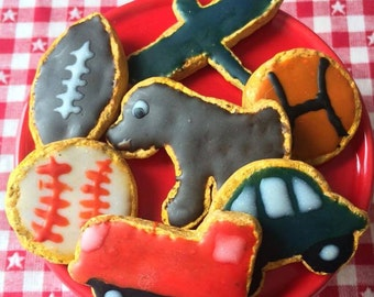 American Girl Doll Sized Boy Themed Sugar Cookies