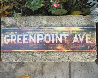 Greenpoint Ave - 4x15 in.