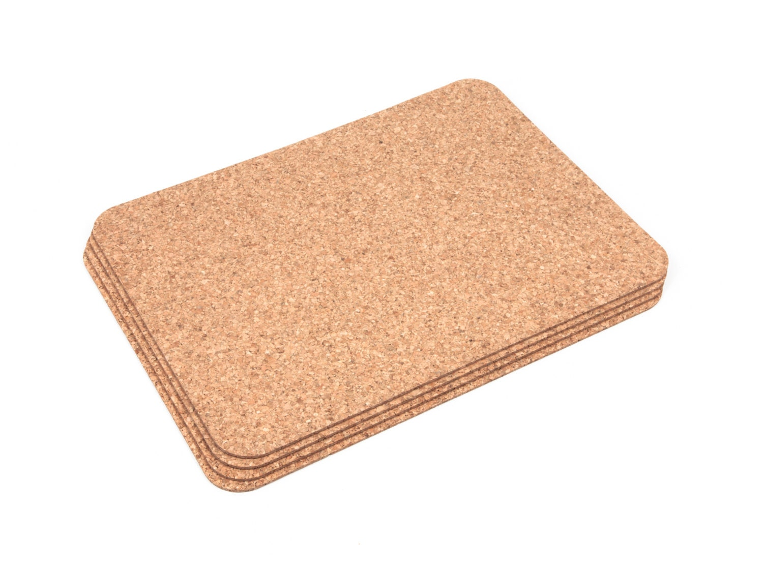 Rectangular cork placemats table mats dining pack of 4 for Table placemats
