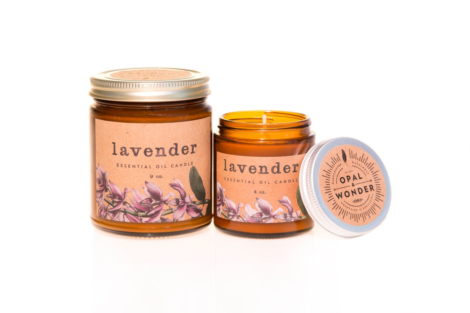 Lavender oil candle